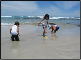 Children having fun in the water at Canunda National Park
